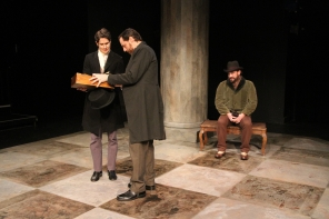 The Clerk in 'Anna Karenina' at Book-It Repertory Theatre. Photo by Alan Alabastro.