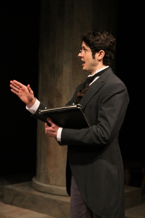 The Lawyer in 'Anna Karenina' at Book-It Repertory Theatre. Photo by Alan Alabastro.