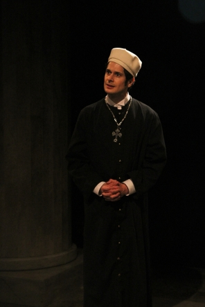 The Priest in 'Anna Karenina' at Book-It Repertory Theatre. Photo by Alan Alabastro.