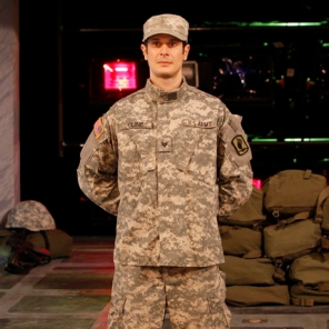 Soldier in 'Lysistrata' at Intiman Theatre