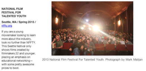 NFFTY listing in MovieMaker Magazine